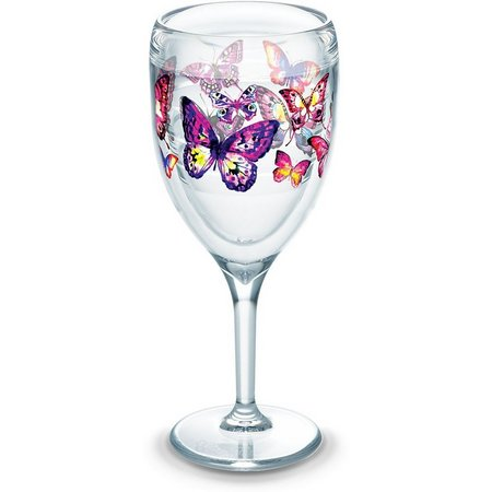 Tervis 9 oz. Butterfly Passions Stemmed Wine Glass