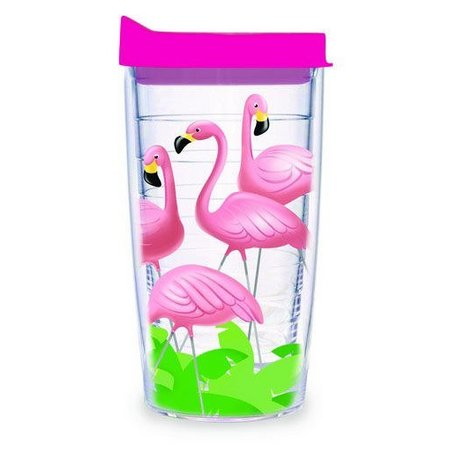 Tervis 16 oz. Flamingos Wrap Tumbler With Lid