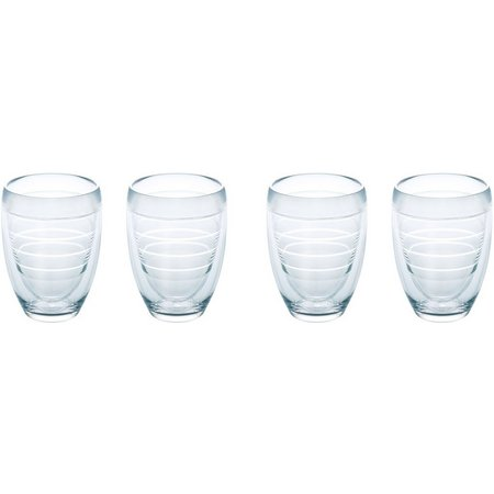 Tervis 9 oz. 4-pc. Clear Stemless Wine Glass