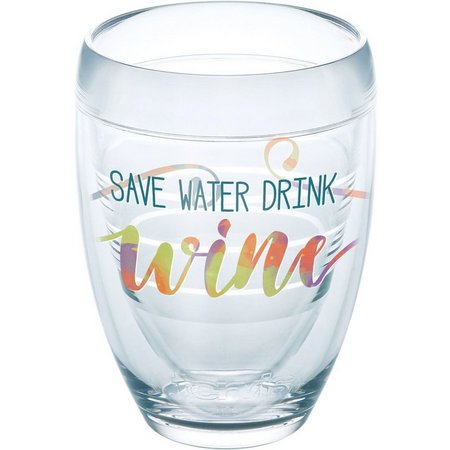 Tervis 9 oz. Save Water Drink Wine Stemless