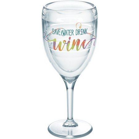 Tervis 9 oz. Save Water Drink Wine Glass