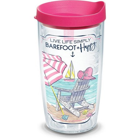 Tervis 16 oz. Barefoot & Happy Tumbler With