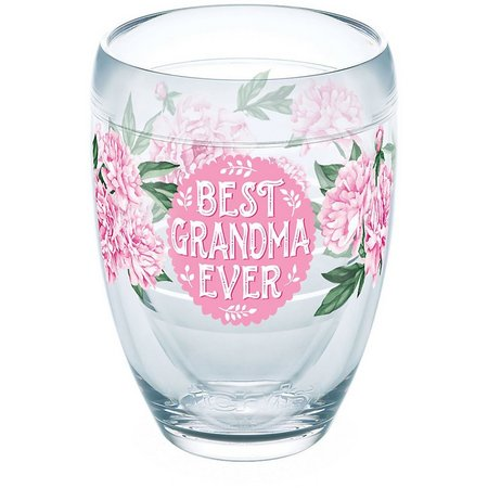 Tervis 9 oz. Grandma Pink Peony Stemless Goblet