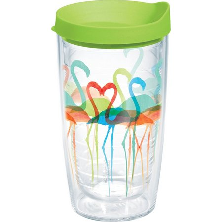 Tervis 16 oz. Flamingo Flock Travel Tumbler