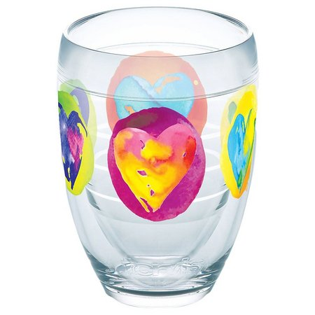 Tervis 9 oz. Color Heart Stemless Wine Glass