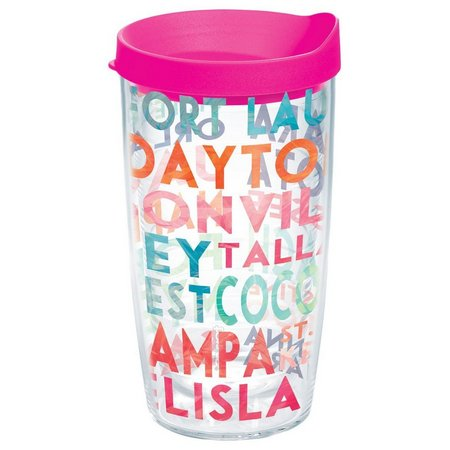 Tervis 16 oz. Florida Cities Travel Tumbler