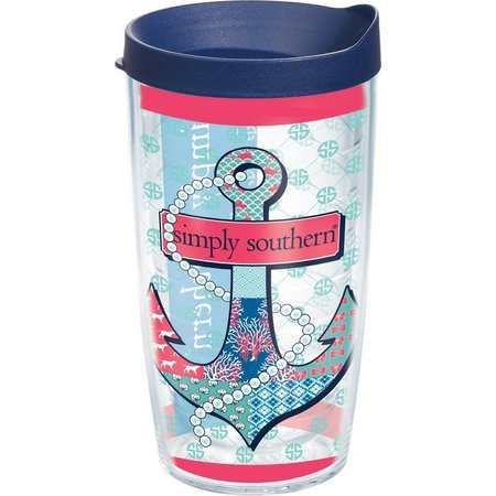 Tervis 16 oz. Simply Southern Anchor Pearl Tumbler
