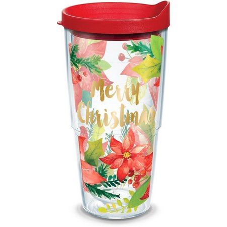 Tervis 24 oz. Merry Poinsettia Tumbler With Lid