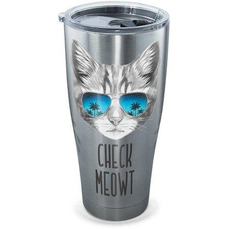 Tervis 30 oz. Stainless Steel Check Meowt Tumbler