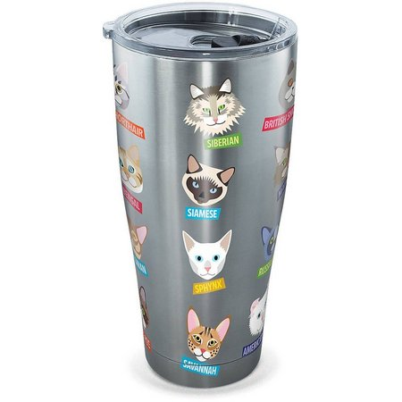 Tervis 30 oz Stainless Steel Flat Art Cats