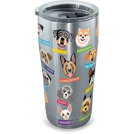 Tervis 20 oz Stainless Steel Flat Art Dogs