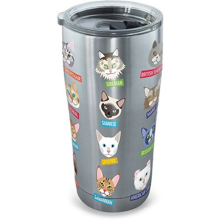 Tervis 20 oz Stainless Steel Flat Art Cats
