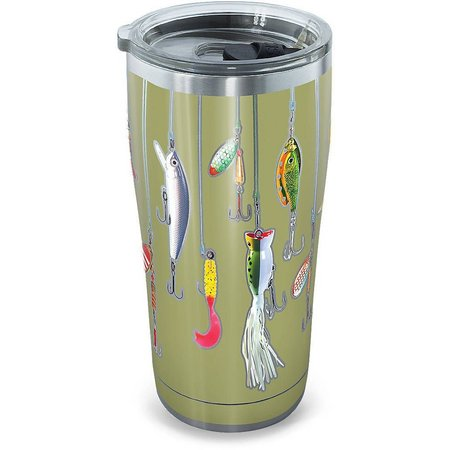 Tervis 20 oz Stainless Steel Fishing Lures Tumbler