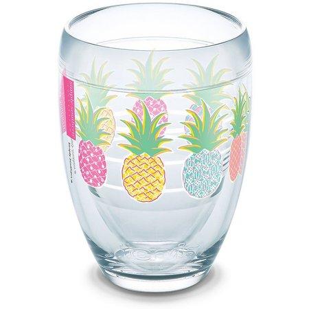 Tervis 9 oz. Pineapple Stemless Wine Glass