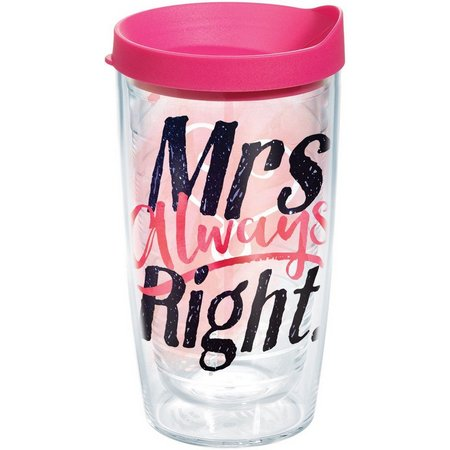 Tervis 16 oz. Mrs. Always Right Travel Tumbler