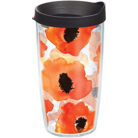 Tervis 16 oz. Watercolor Poppy Travel Tumbler