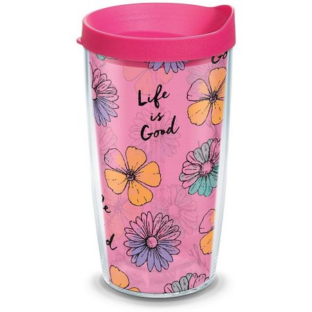 Tervis 16 oz. Life Is Good Flower Travel