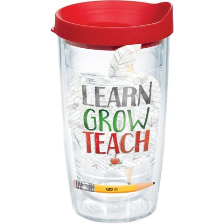 Tervis 16 oz. Learn Grow Teach Travel Tumbler