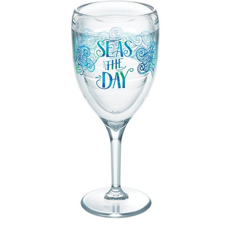 Tervis 9 oz. Seas The Day Wine Glass