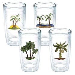 Tervis 16 oz. 4-pc. Tropical Palm Tree Tumbler