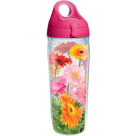 Tervis 24 oz. Gerbera Daisy Pink Water Bottle