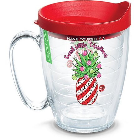 Tervis 16 oz. Christmas Pineapple Mug With Lid
