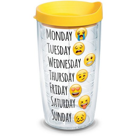 Tervis 16 oz. Emoji Days Tumbler With Lid
