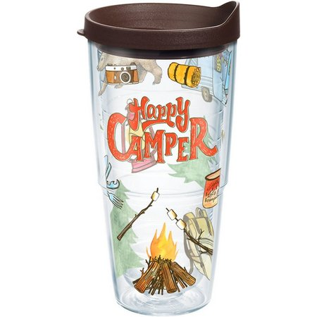 New! Tervis 24 oz. Happy Camper Tumbler With