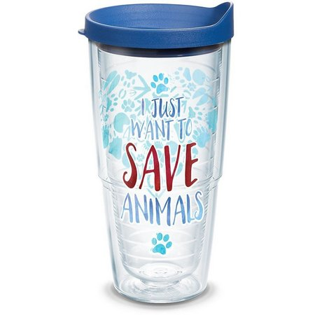 New! Tervis 24 oz. Just Save Animals Tumbler