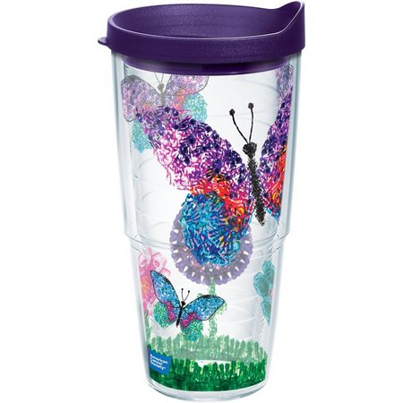 New! Tervis 24 oz. Butterflies Tumbler With Lid