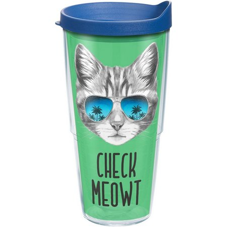 Tervis 24 oz. Check Meowt Tumbler With Lid