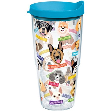 New! Tervis 24 oz. Flat Art Dogs Tumbler