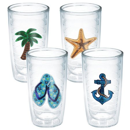 Tervis 16 oz. 4-pc. Sequin Beach Life Tumbler