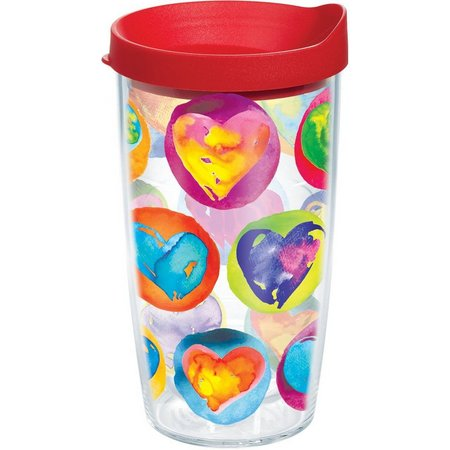 Tervis 16 oz. Colored Hearts Travel Tumbler