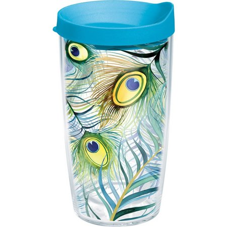 Tervis 16 oz. Peacock Travel Tumbler With Lid