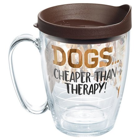 Tervis 16 oz. Dogs Cheaper Therapy Travel Mug