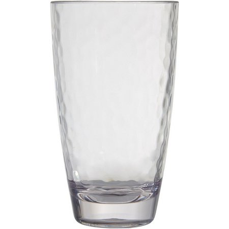 Coastal Home Clear Hammered Highball Glass
