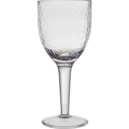 Coastal Home Clear Hammered Goblet