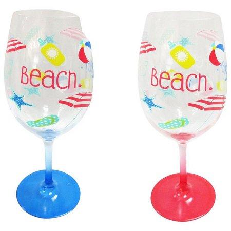 Tropix 2-pc. Beach Wine Glasses