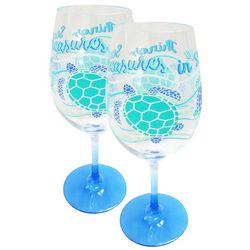 Tropix 2-pk. Sea Turtle Treasures Wine Glasses