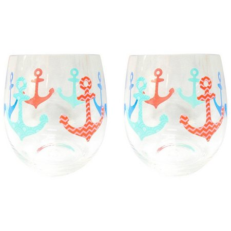 Tropix 2-pc. Anchor Stemless Goblet Set