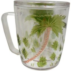 Tropix Etched Insulated Palm Mug