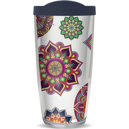 COVO 16 oz. Colorful Boho Travel Tumbler