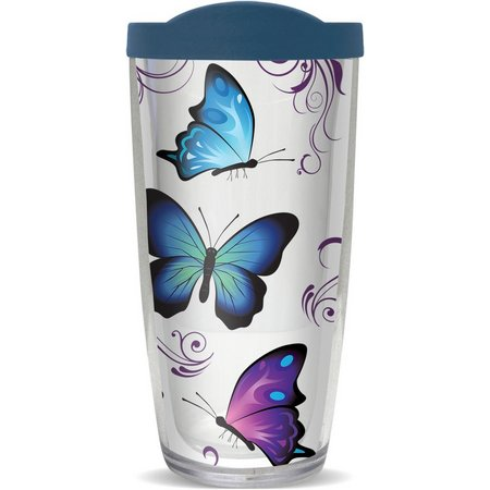 COVO 16 oz. Butterflies Travel Tumbler