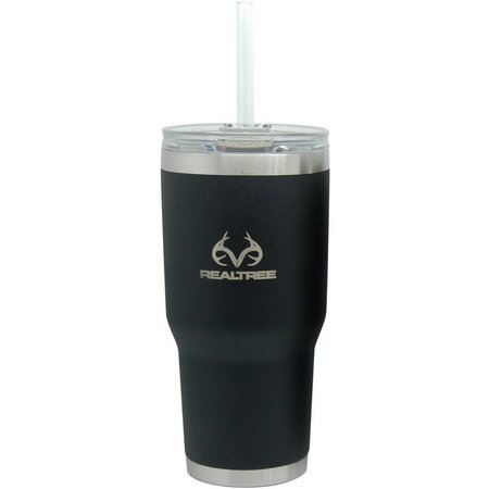 Realtree 34 oz. Black Insulated Steel Tumbler