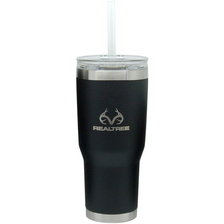 Realtree 24 oz. Black Insulated Steel Tumbler