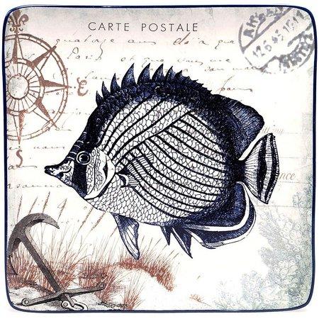 Certified International Fish Dessert Plate
