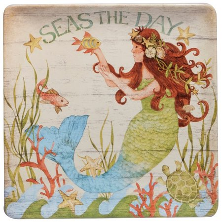 Certified International Sea Beauty Mermaid Platter