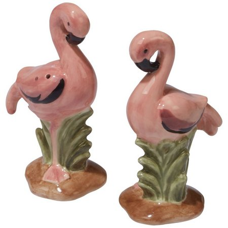 Certified International Flamingo Salt & Pepper Set