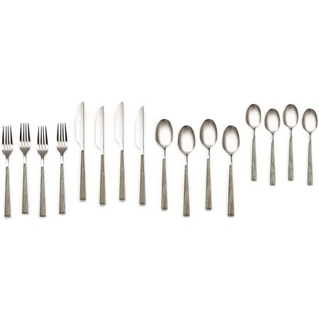 Cambridge 16-pc. Esben Driftwood Flatware Set